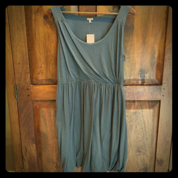 NWT J. Crew jersey knit dress Super soft jersey dress in smoky grey with pretty front detailing and tasteful bubble skirt. Hem sits at knee. J. Crew Dresses Midi
