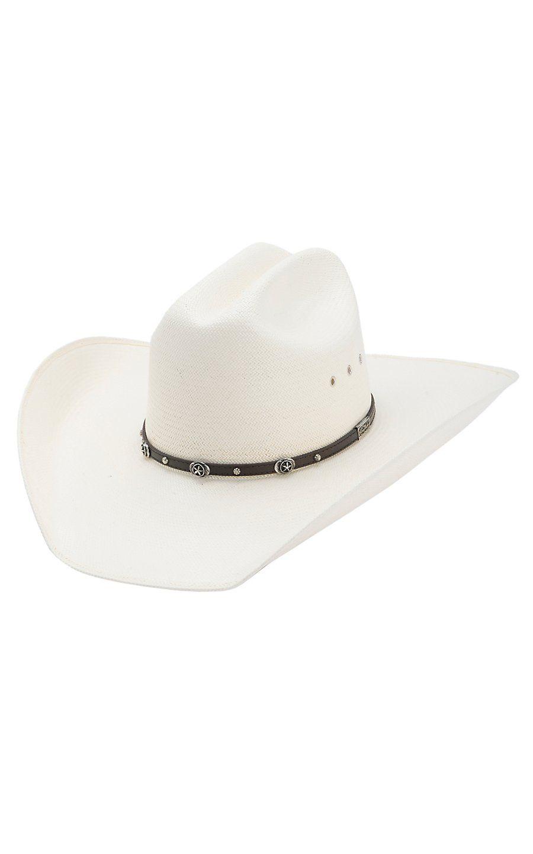 40bbaa653de17 Larry Mahan 10X Ace High Silver Stars Straw Cowboy Hat Mens Western Hats
