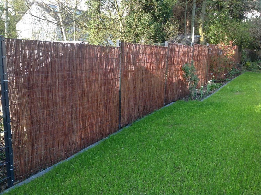 Details zu Weidenmatte · Sichtschutz-Matte Weide Weiden-Zaun Natur