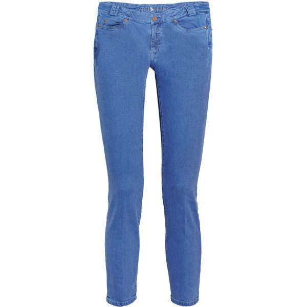 MiH Jeans Paris Aviator cropped mid-rise skinny jeans via Polyvore