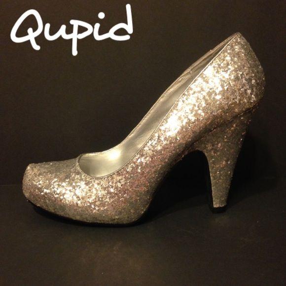 559e5f9985d Qupid Silver Glitter Heels Qupid Silver Glitter Heels