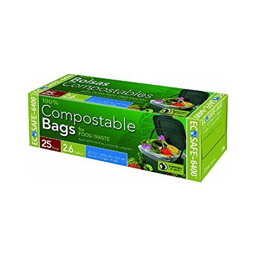 ecosafe compostable ecobio bags pack 50 bags check out the image by visiting the link