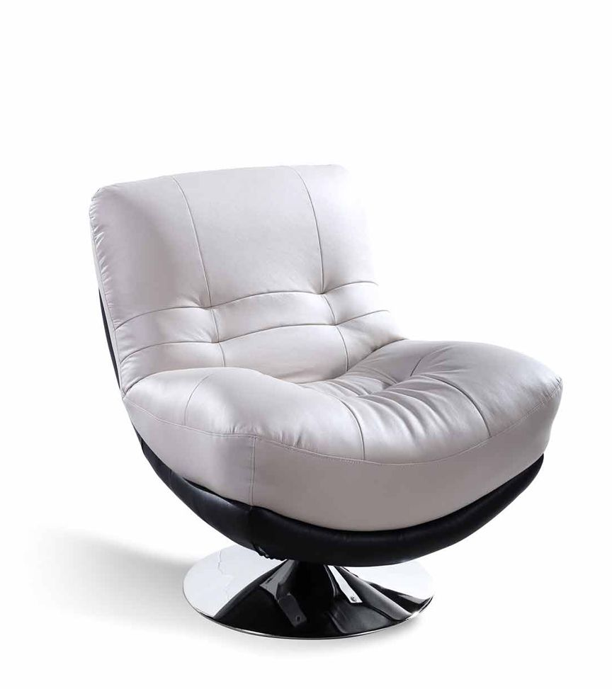 Full Leather Swivel Chair Modern Living Sets Room Decoration Furniture