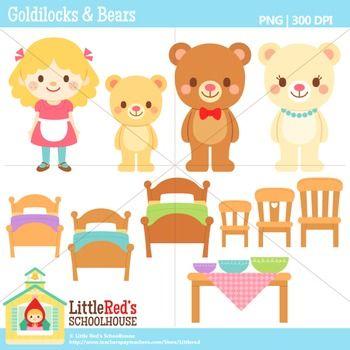 Goldilocks and the Three Bear Clip Art Set – Daily Art Hub – Free Clip Art  Everyday