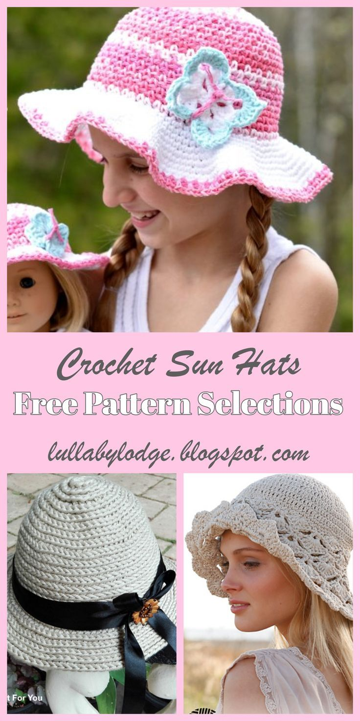 2a411f9e0aa Keep your cool in the heat, with these pretty crochet sun hats. Six free