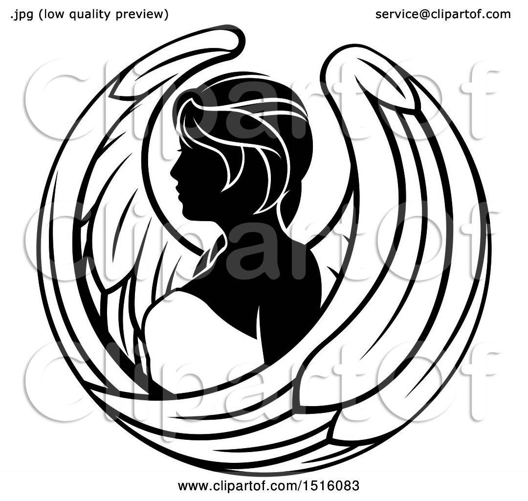 Clipart Of A Zodiac Horoscope Astrology Virgo Design In Black And White Royalty Free Vector Illustratio Free Vector Illustration Astrology Virgo Virgo Symbol