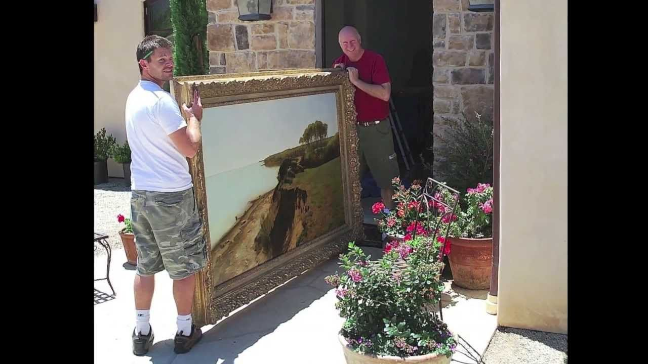 How to hang a large painting great essential tips wee