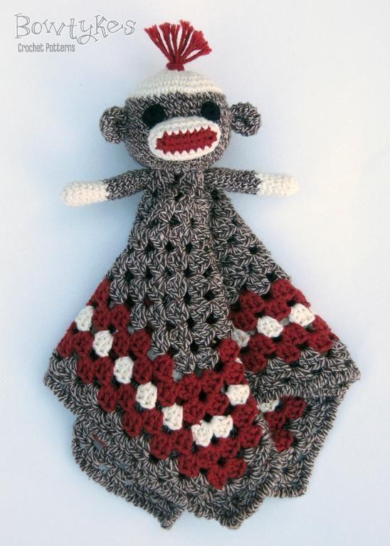 Sock Monkey Lovey | Manta, Abuelas y Tejido