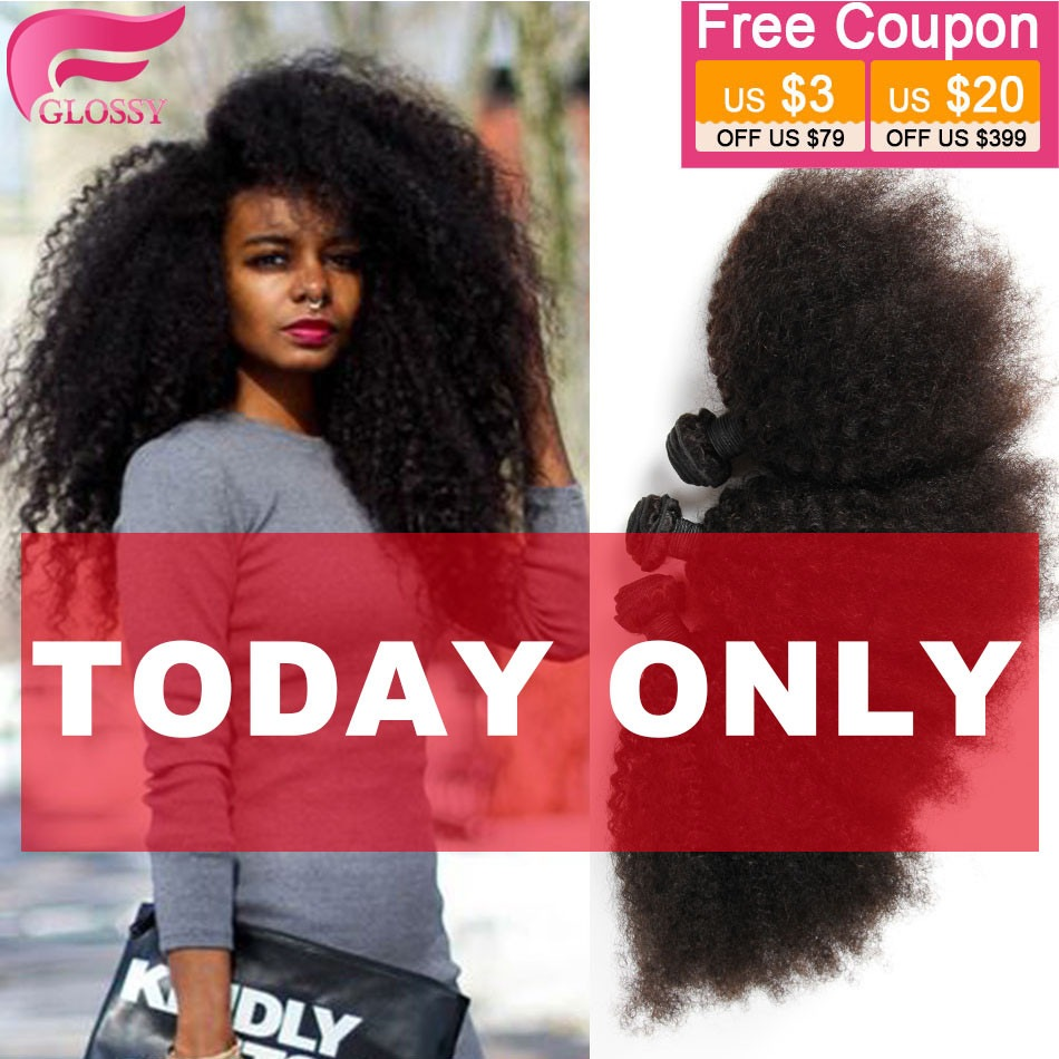 Mongolian Afro Kinky Curly Virgin Hair Rosa Hair Products 100