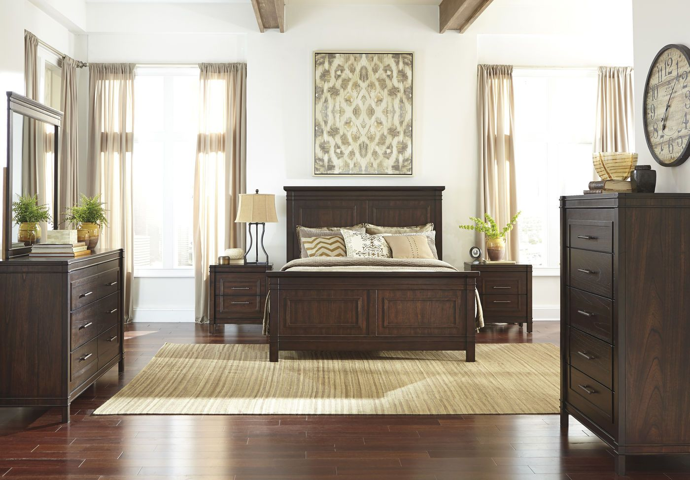 Ashley Timbol Suite Mathis Brothers Furniture Brown