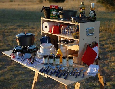 camping supplies / organization