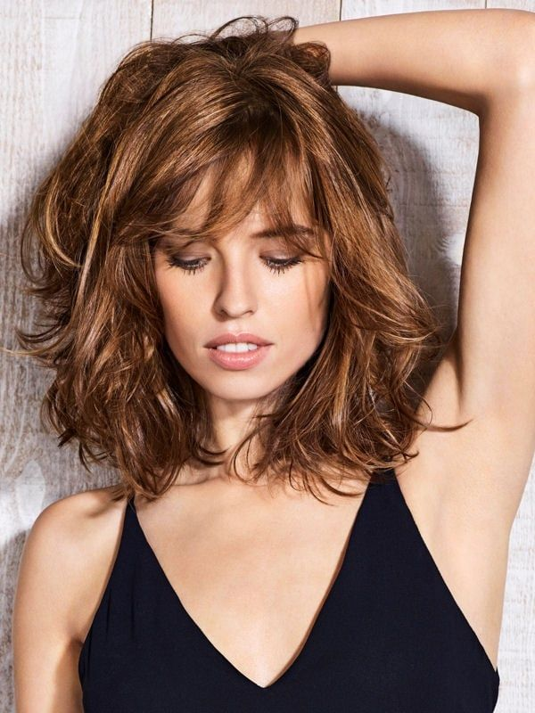 Corte de pelo carre largo con flequillo