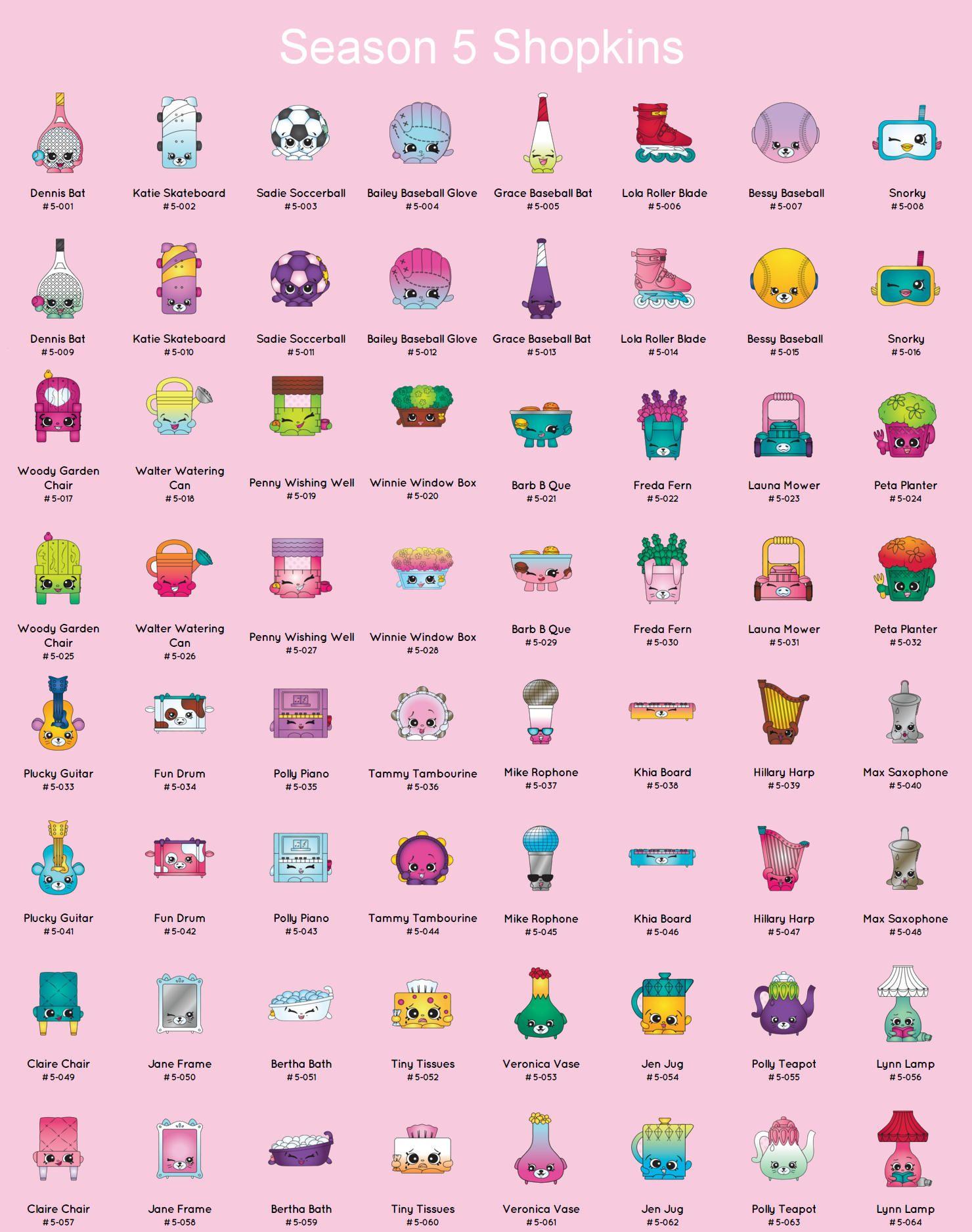Squish Delish Names : Shopkins Season 5 Printable Full List Party Ideas Pinterest Shopkins, Shopkins season and ...
