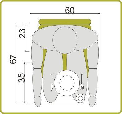 medidas mínimas mesa de 4 personas | Pinterest | Hausbau