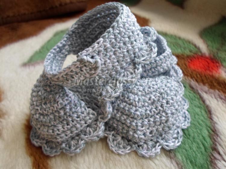 Вязание крючком. Летние пинетки для малыша. Мастер-класс с пошаговыми фото