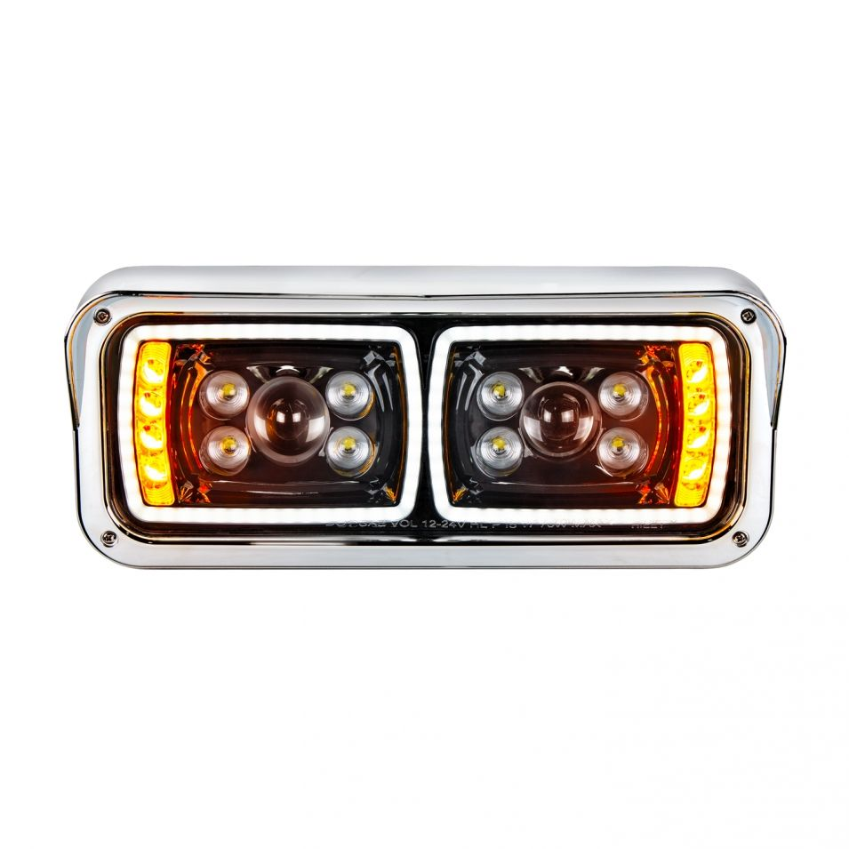 All Led Dual Function Blackout Headlight For Peterbilt Kenworth
