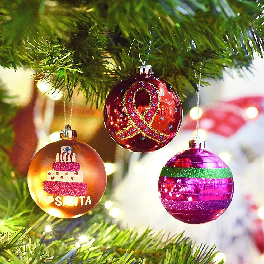 Deko Drahtkugeln 30er Set Christmas Weihnachten Deko Kugel Rot Silber Gold