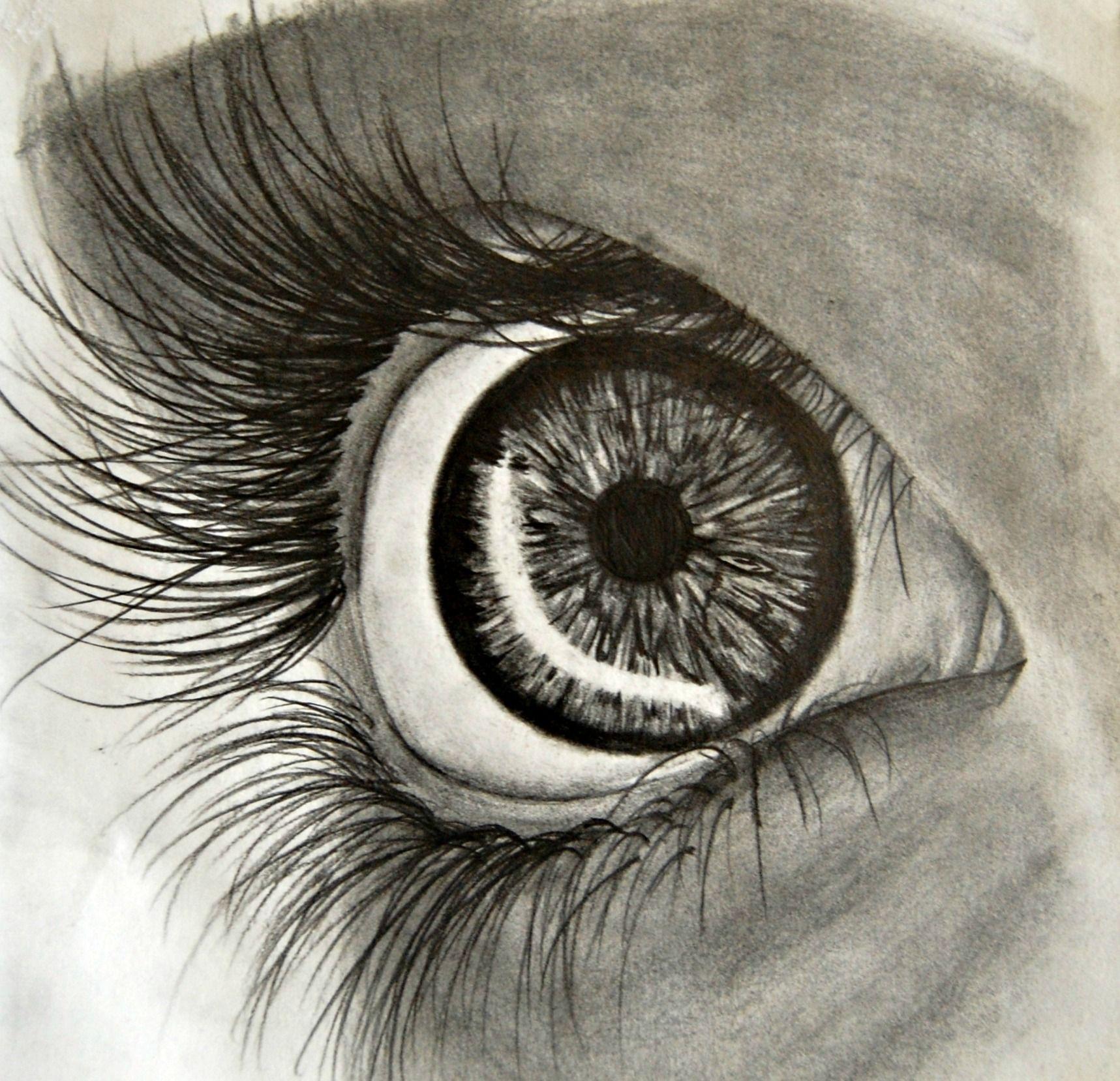 Scared eye | Eye sketch, My drawings, Sketches