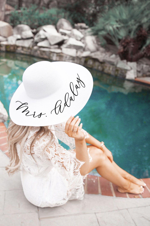 Personalized Beach Hat Beach Theme Bridal Shower Bridal Shower