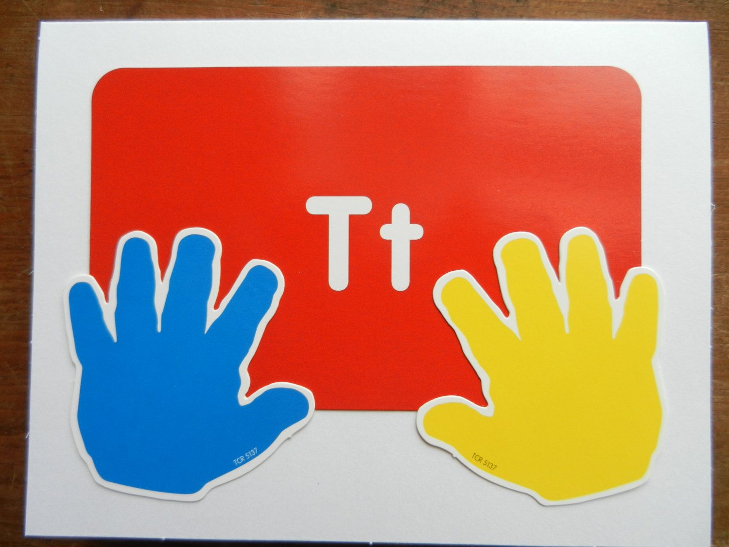 Teacher Appreciation Card With Real Flash Card And Childrens Hands