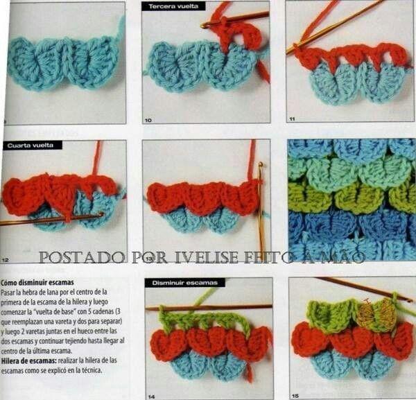 Blaadjes Of Veren Haken Crochet Patterns Pinterest Crochet