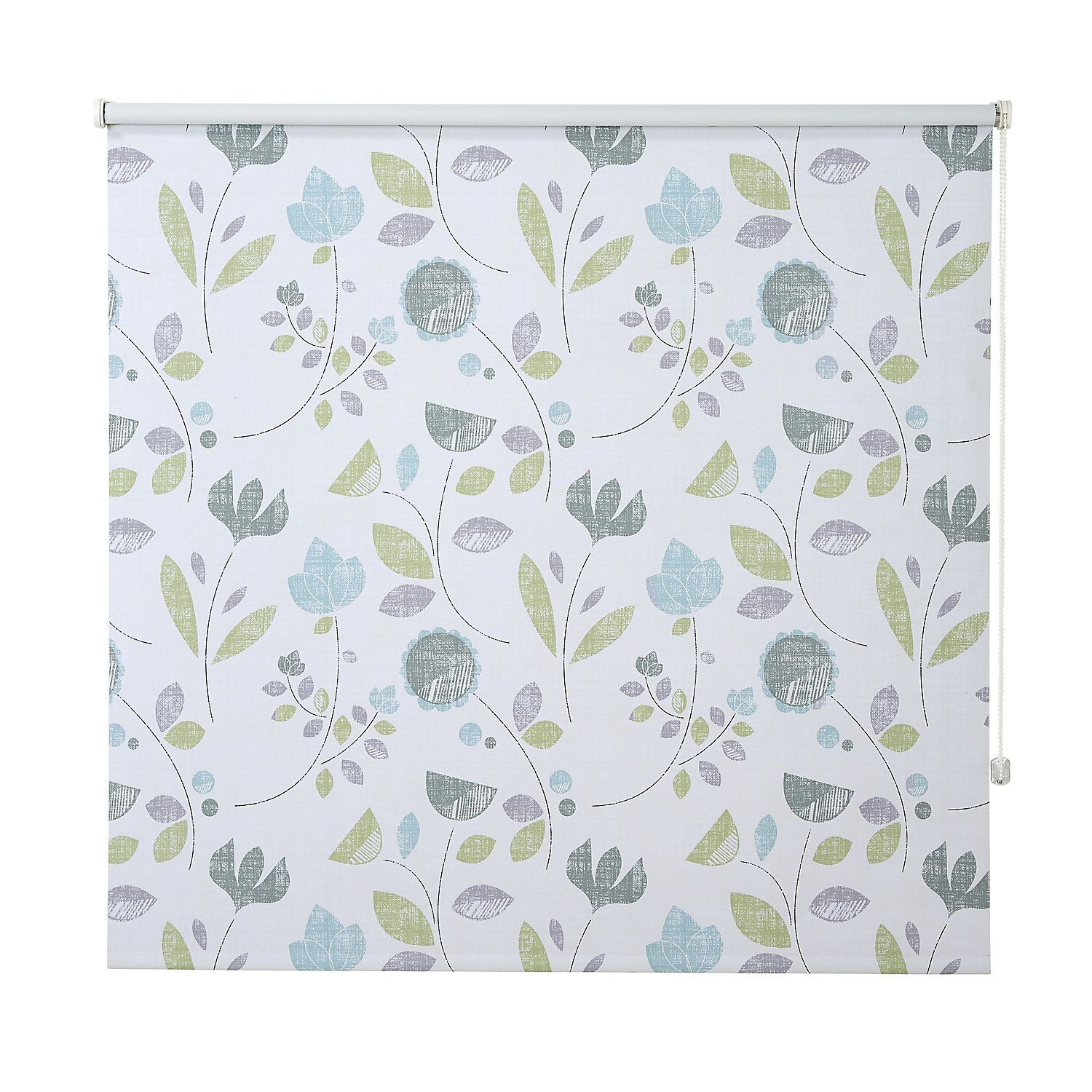 Colours Boreas Corded Green White Blackout Roller Blind L 195 Cm W 120 Cm Blackout Roller Blinds Roller Blinds Blinds