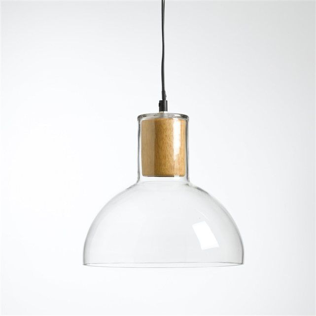 suspension verre et bois lizia la redoute interieurs luminaires pinterest suspension. Black Bedroom Furniture Sets. Home Design Ideas