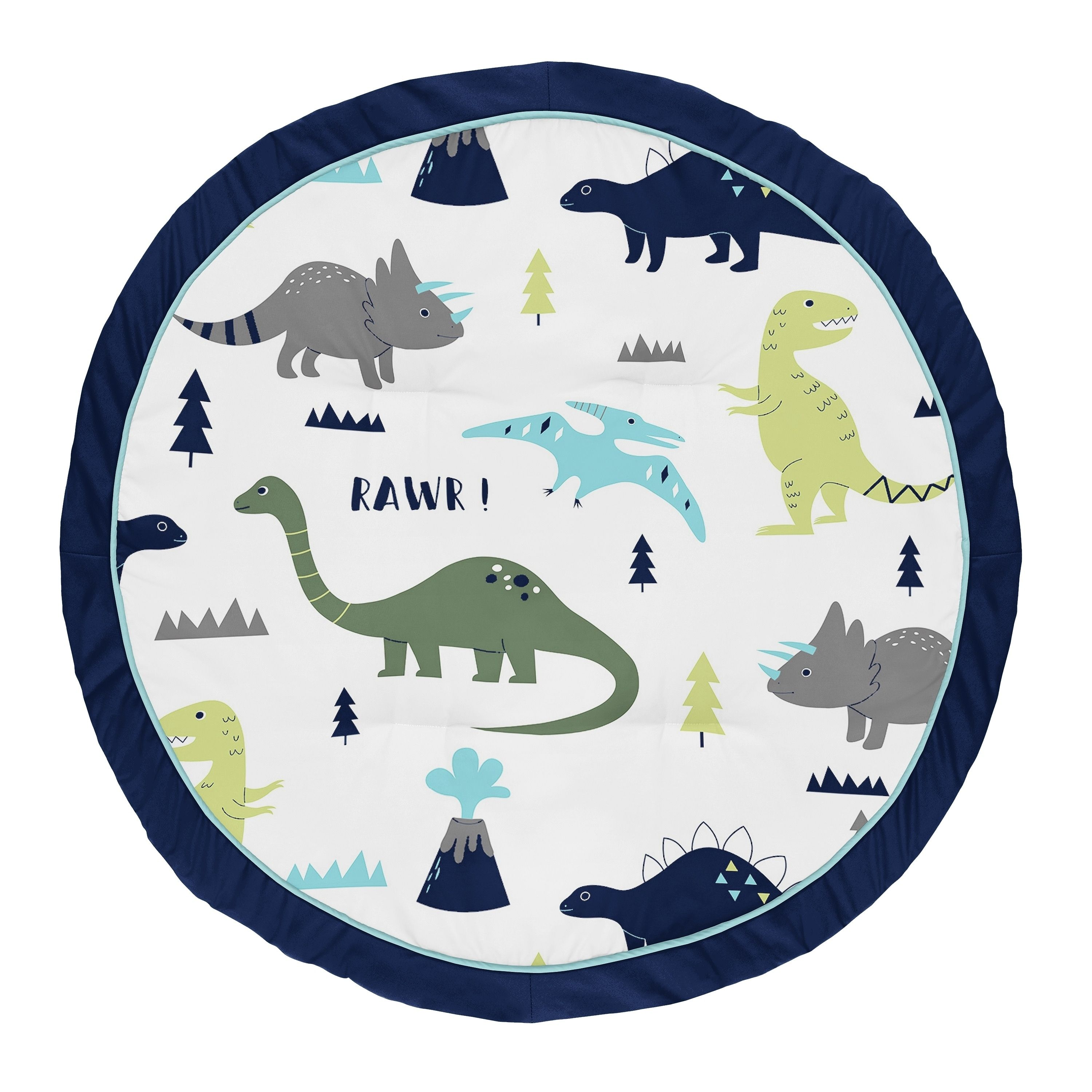 Sweet Jojo Designs Blue And Green Dino Mod Dinosaur Collection Baby Tummy Time Playmat Dinosaur Nursery Sweet Jojo Designs Baby Tummy Time