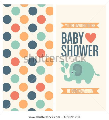 Baby Shower Invitation Card Template  Stock Vector  For Example
