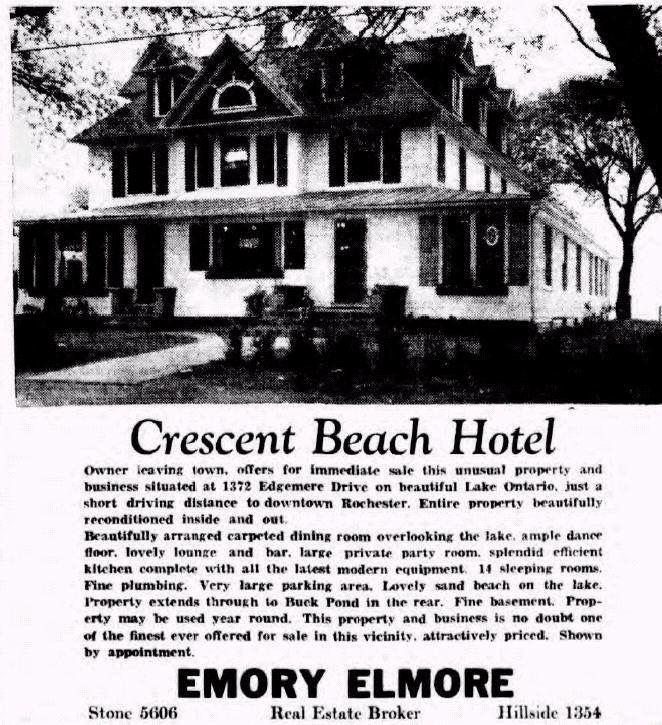 Crescent Beach Hotel Rochester New York
