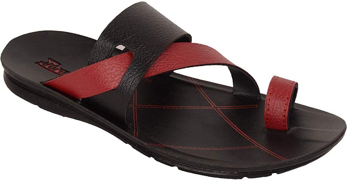 Paragon Men Black Slip on Sandal