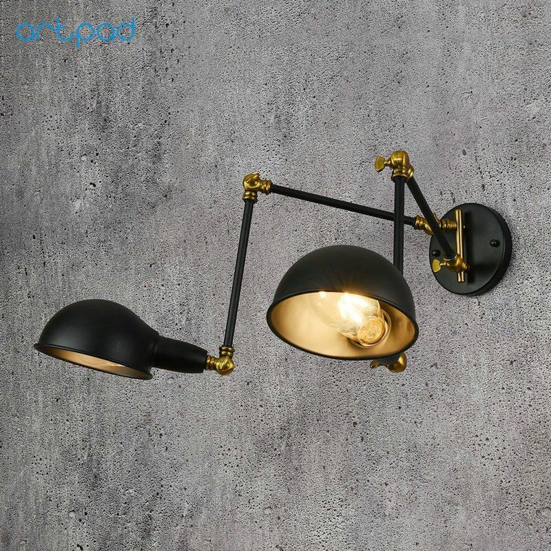 Cheap Reading Wall Lamp Buy Quality Wall Lamp Directly From China Wall Mount Light Suppliers Artpad E27 Vintage Lamp Wall Mounted Light Swing Arm Wall Light