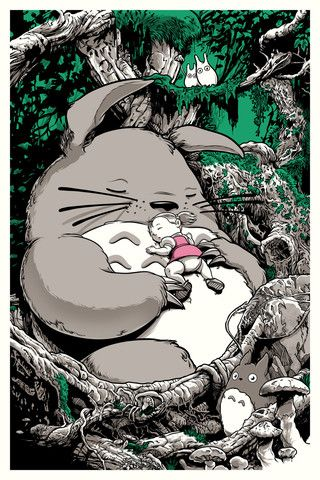 "Joshua Budich - ""I Bet You're Totoro."" $65"