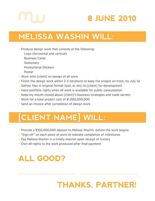 Freelance Design Contract Example