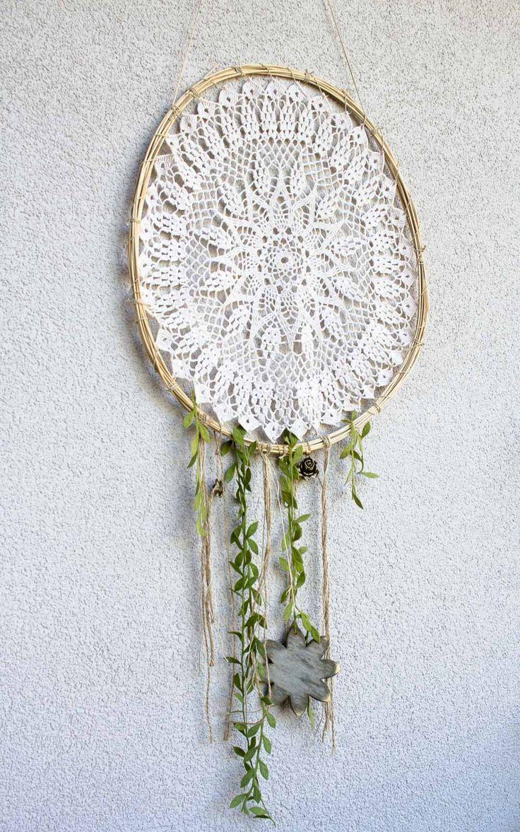 Fresh DIY Wanddeko f r Balkon Deko f r den Garten im Fr hling oder Sommer Boho Dekoration