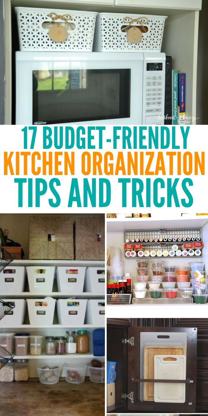 Kitchen Organization On A Budget Tips and How-To\'s   organizing ...