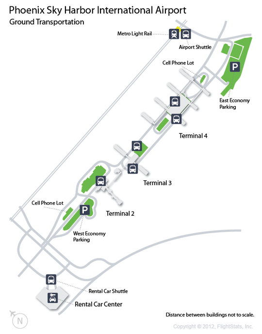 PHX) Phoenix Sky Harbor International Airport Terminal Map ...
