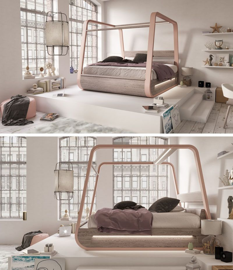 This Bed Is Designed With Hidden Features Like A Projector A 70