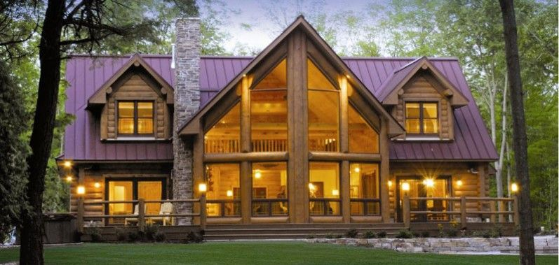 Bon Alpine Meadow II   Version I   Log Homes, Cabins And Log Home Floor Plans    Wisconsin Log Homes