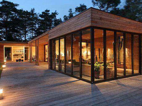 R sultat de recherche d 39 images pour maison ossature bois for Extension maison tuile