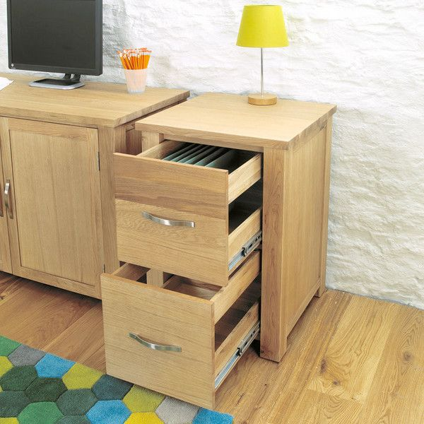 Aston Solid Oak Two Drawer Filing Cabinet