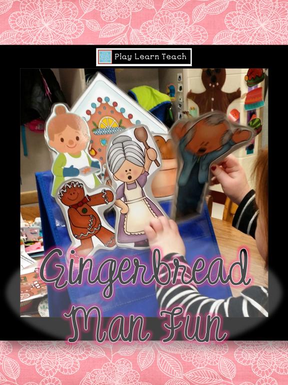 Gingerbread Man in Preschool Winter theme preschool