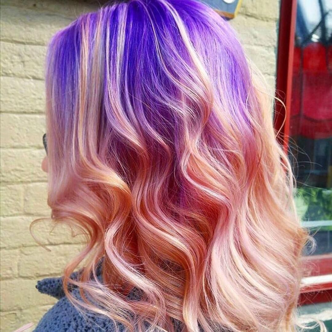 Blue to pink ombre hair dye ideas in pinterest hair