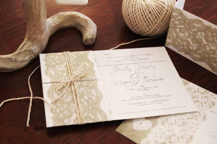 Hochzeitskarten spitze vintage
