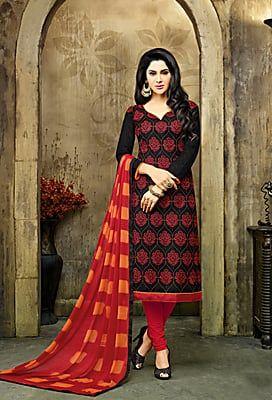 Fanstatic Exclusive Suit Unstitched Salwar Kameez Indian Jequard Dress Materials