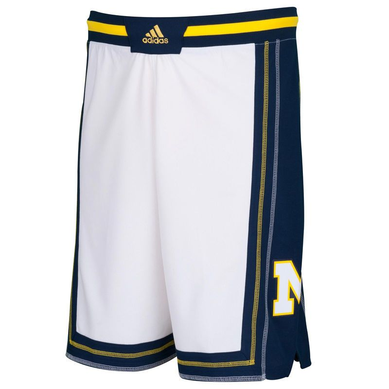 Michigan Wolverines adidas Point Guard Basketball Shorts – White