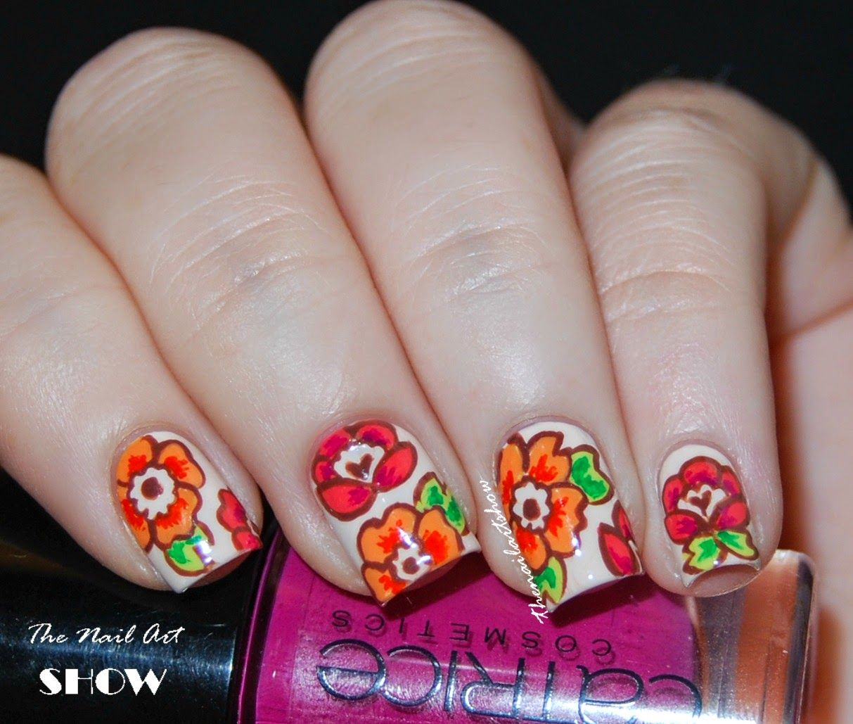 The Nail Art Show: Neon Summer Time Floral | Nailart: Hand-Painted ...