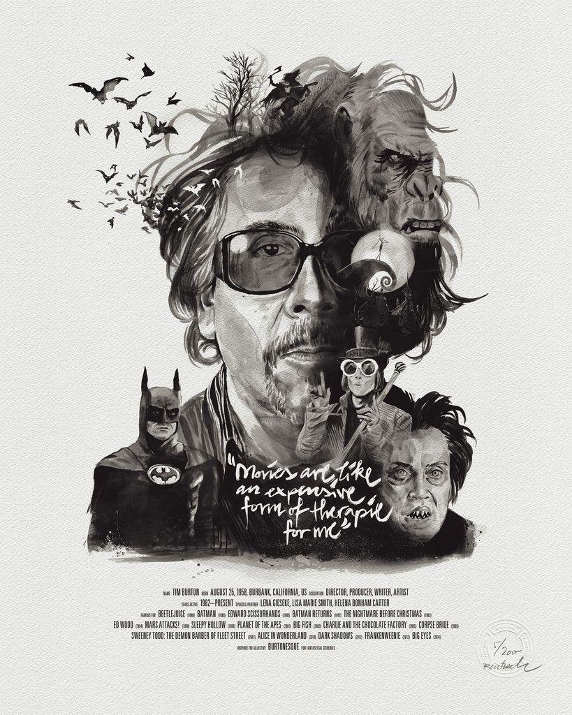 Movie Director Portrait: Tim Burton by Stellavie & Julian Rentzsch
