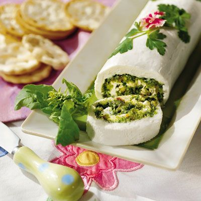 Basil-Cheese Roulade - Easter or Spring Appetizer Recipes - Southern Living