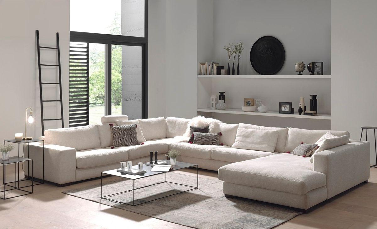 Groot design hoeksalon wit in house pinterest living room